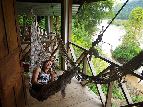 Hammocks on the front porch!