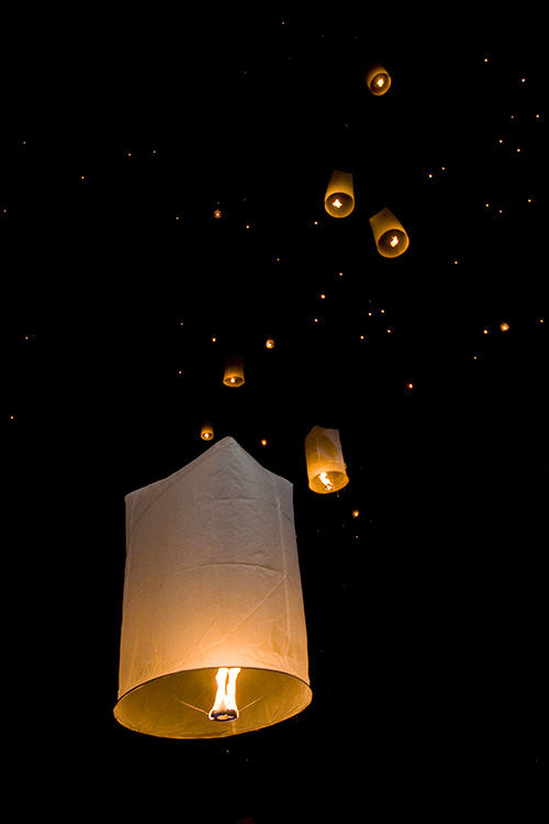 Floating Lanterns above Chiang Mai
