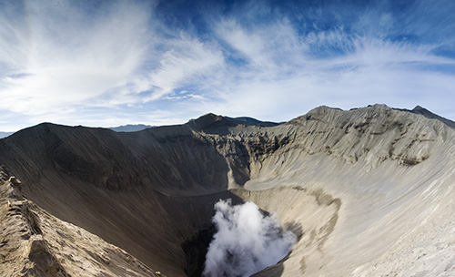 The view into Bromo
