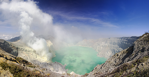 A view over Ijen Crater